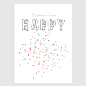 kinderkamer poster tekst happy