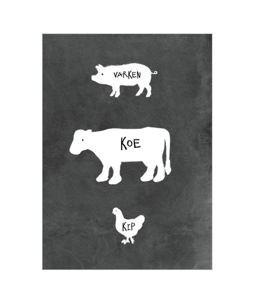 poster-boerderij-zwartwit