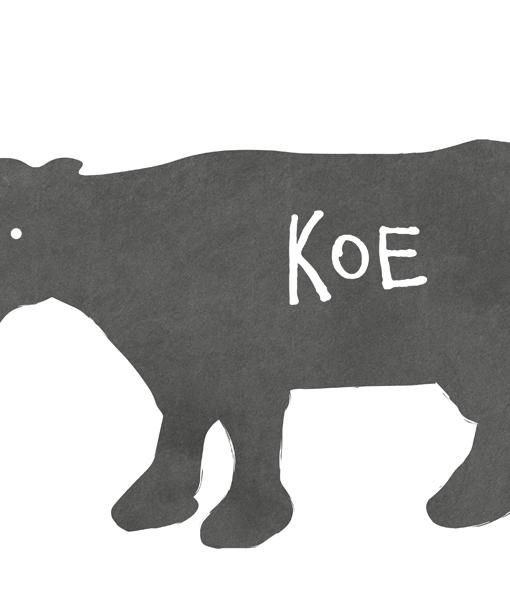 poster boerderij dieren wit