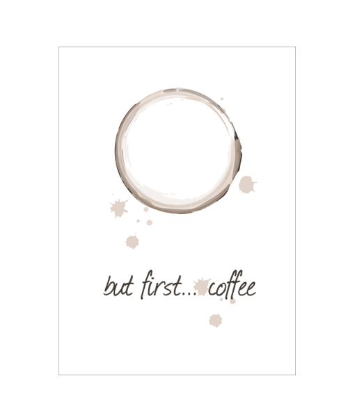 coffee muurposter