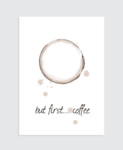 coffee poster interieur tekst