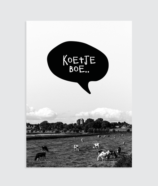kinderkamer poster fotografie zwart wit koetjeboe