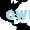wereldkaart kinderkamer poster blauw detail