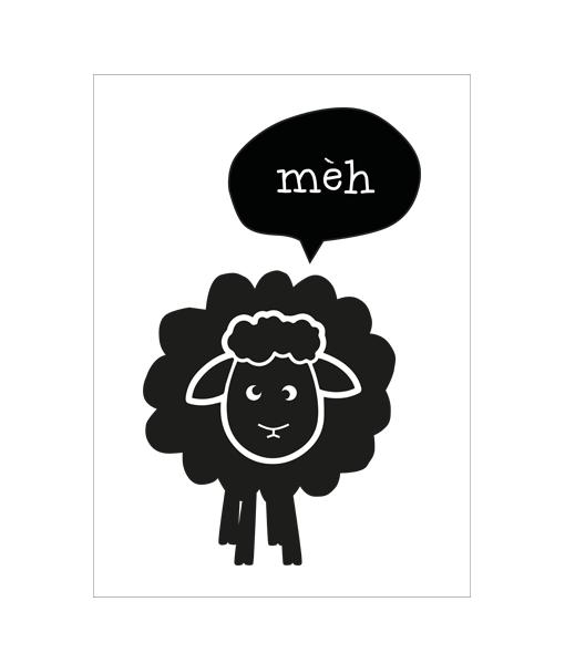 het zwarte schaap - homemade poster, Deco ideeën