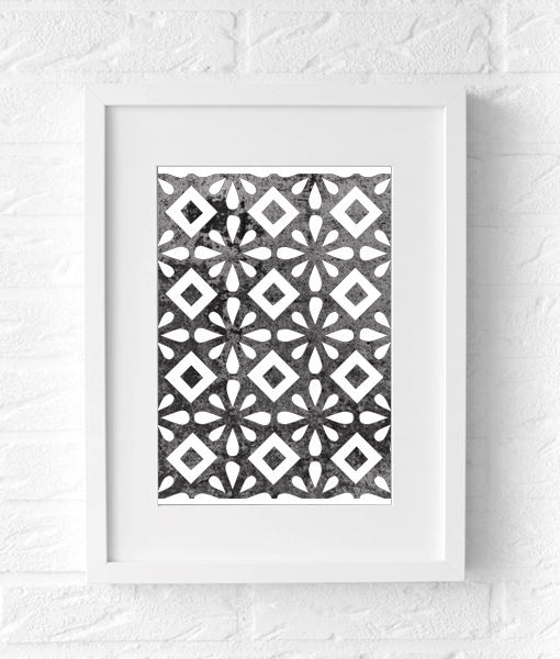 Keuken print zwart texture muurposter muur