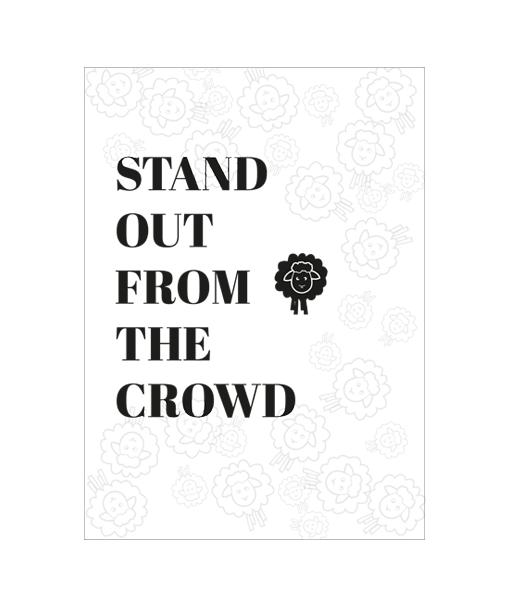standout poster zwart wit muur
