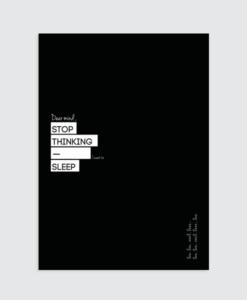slaapkamer zwart wit tekst poster
