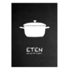 Eten keuken poster zwart wit