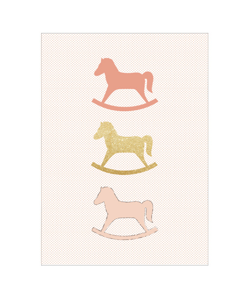 Kinderkamer poster Hobbelpaard (roze) - Homemade Poster