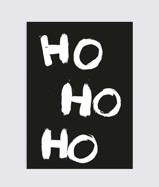 Kerst Poster Ho Ho Ho Merry Christmas
