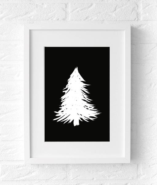Kerst poster origineel cadeau