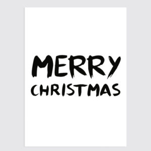 Merry Christmas Kerst poster Wit