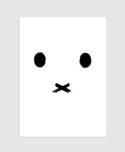 kinderkamer zwart wit poster