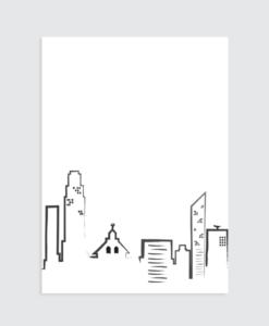 stad wit kaart poster