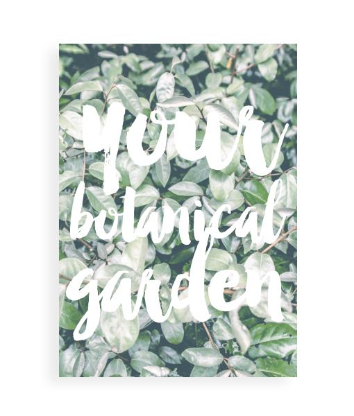 botanische poster planten