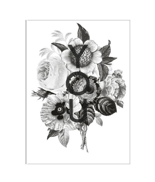 Poster-liefde-zwartwit-bloemen-detail-vtwonen-inspiratie-wit