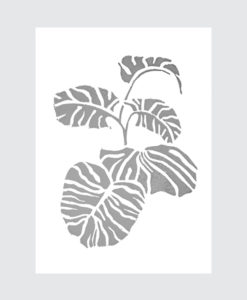 monstera-vingerplantpostergrijs