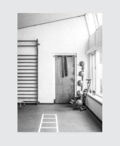 Vintage-poster-zwartwit-industriel-gym
